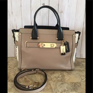 Coach Swagger 36496 In Colorblock Exotic Embossed
